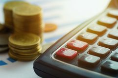 Finance capital banking and accounting concept,money coins and c. Finance capital banking and accounting concept Stock Images