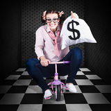 Finance Cash Withdrawal From Bank Safe Vault Stock Photography