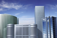 Finance Center. 3D graphic of commercial buildings Royalty Free Stock Image