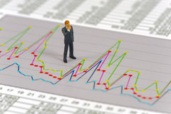 Finance chart and banker Royalty Free Stock Photos