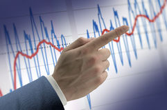 Finance chart Stock Image