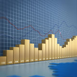 Finance chart. 3d render image Stock Photos