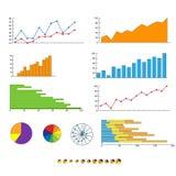 Finance chart graphics diagram set vector. Illustration Stock Photography