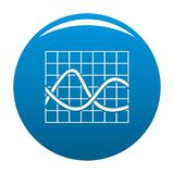 Finance chart icon blue vector. Finance chart icon vector blue circle isolated on white background Stock Photography