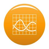Finance chart icon vector orange. Finance chart icon. Simple illustration of chart vector icon for any any design orange Stock Images