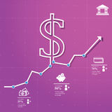 Finance Chart. Finance and trade concept background whit info charts and other business icons Stock Photos