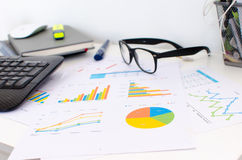 Finance charts and graphs Stock Photo