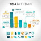 Finance charts infographic Royalty Free Stock Photos