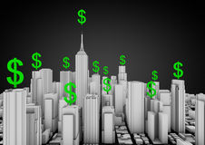 Finance city Stock Images