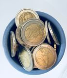 Coins Money  Euro. Cash. FInance. Coin. Make Money. Save money every day Stock Images