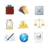 Finance Color Icon Set. Vector Stock Photography
