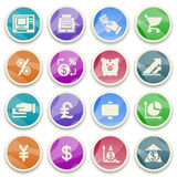 Finance color icons. Vector icons set for websites, guides, booklets Royalty Free Stock Photos