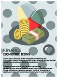 Finance color isometric poster. Vector illustration, EPS 10 Royalty Free Stock Photos