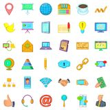 Finance company icons set, cartoon style. Finance company icons set. Cartoon style of 36 finance company vector icons for web isolated on white background Royalty Free Stock Photography