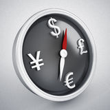 Finance compass. 3d high quality rendering Royalty Free Stock Images