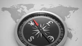 Finance Compass. Loop, 3d render stock illustration