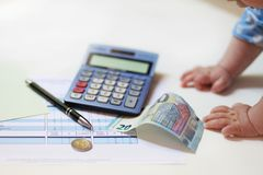 Finance for complete beginners royalty free stock photo