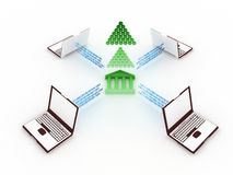 Finance concept. A 3d concept of finance and people Royalty Free Stock Photos