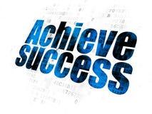 Finance concept: Achieve Success on Digital background. Finance concept: Pixelated blue text Achieve Success on Digital background Royalty Free Stock Image