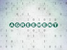 Finance concept: Agreement on Digital Data Paper background. Finance concept: Painted green text Agreement on Digital Data Paper background with Binary Code Royalty Free Stock Photos