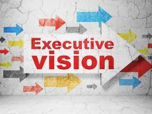Finance concept: arrow with Executive Vision on grunge wall background Royalty Free Stock Photos