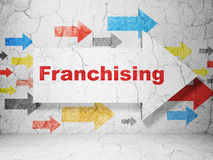Finance concept: arrow with Franchising on grunge Royalty Free Stock Photography