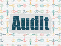 Finance concept: Audit on wall background Stock Image