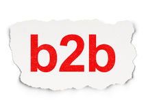 Finance concept: B2b Stock Image