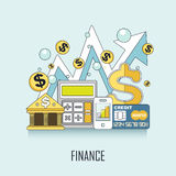 Finance concept Royalty Free Stock Image