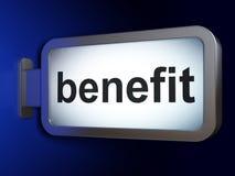 Finance concept: Benefit on billboard background. Finance concept: Benefit on advertising billboard background, 3D rendering Stock Image