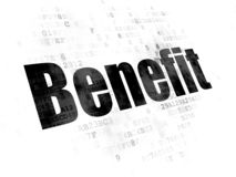 Finance concept: Benefit on Digital background stock photography