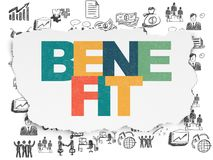 Finance concept: Benefit on Torn Paper background Royalty Free Stock Images