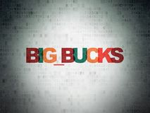 Finance concept: Big bucks on Digital Data Paper background. Finance concept: Painted multicolor text Big bucks on Digital Data Paper background Royalty Free Stock Photo
