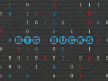 Finance concept: Big bucks on wall background Royalty Free Stock Photo