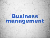 Finance concept: Business Management on wall background Stock Photography