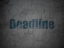 Finance concept: Deadline on grunge wall background. Finance concept: Blue Deadline on grunge textured concrete wall background Stock Photography