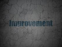 Finance concept: Improvement on grunge wall background. Finance concept: Blue Improvement on grunge textured concrete wall background Stock Photo