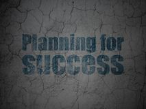 Finance concept: Planning for Success on grunge wall background. Finance concept: Blue Planning for Success on grunge textured concrete wall background Royalty Free Stock Photography