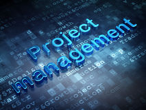 Finance concept: Blue Project Management on Stock Photo