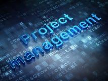 Finance concept: Blue Project Management on. Digital background, 3d render Stock Photo
