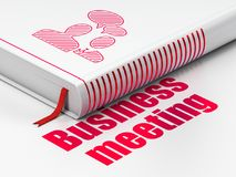 Finance concept: book Business Meeting, Business Meeting on white background. Finance concept: closed book with Red Business Meeting icon and text Business Stock Photo