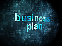 Finance concept: Business Plan on digital background. Finance concept: pixelated words Business Plan on digital background, 3d render Stock Photo