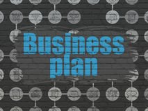Finance concept: Business Plan on wall background Royalty Free Stock Photography