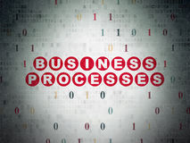 Finance concept: Business Processes on digital Royalty Free Stock Image
