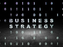 Finance concept: Business Strategy in grunge dark Royalty Free Stock Images