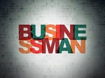 Finance concept: Businessman on Digital Data Paper background. Finance concept: Painted multicolor text Businessman on Digital Data Paper background Stock Image