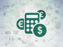 Finance concept: Calculator on Digital Paper Royalty Free Stock Photos