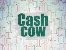 Finance concept: Cash Cow on Digital Data Paper background Stock Image