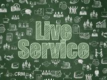 Finance concept: Live Service on School board background. Finance concept: Chalk Green text Live Service on School board background with  Hand Drawn Business Stock Images