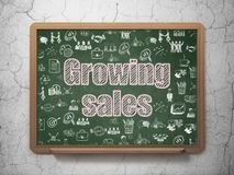 Finance concept: Growing Sales on School board background Royalty Free Stock Photo